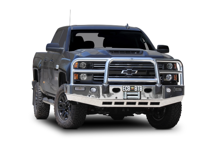 Big Tube Bar® Winch Compatible with Bumper Lights (code: BC58SY)